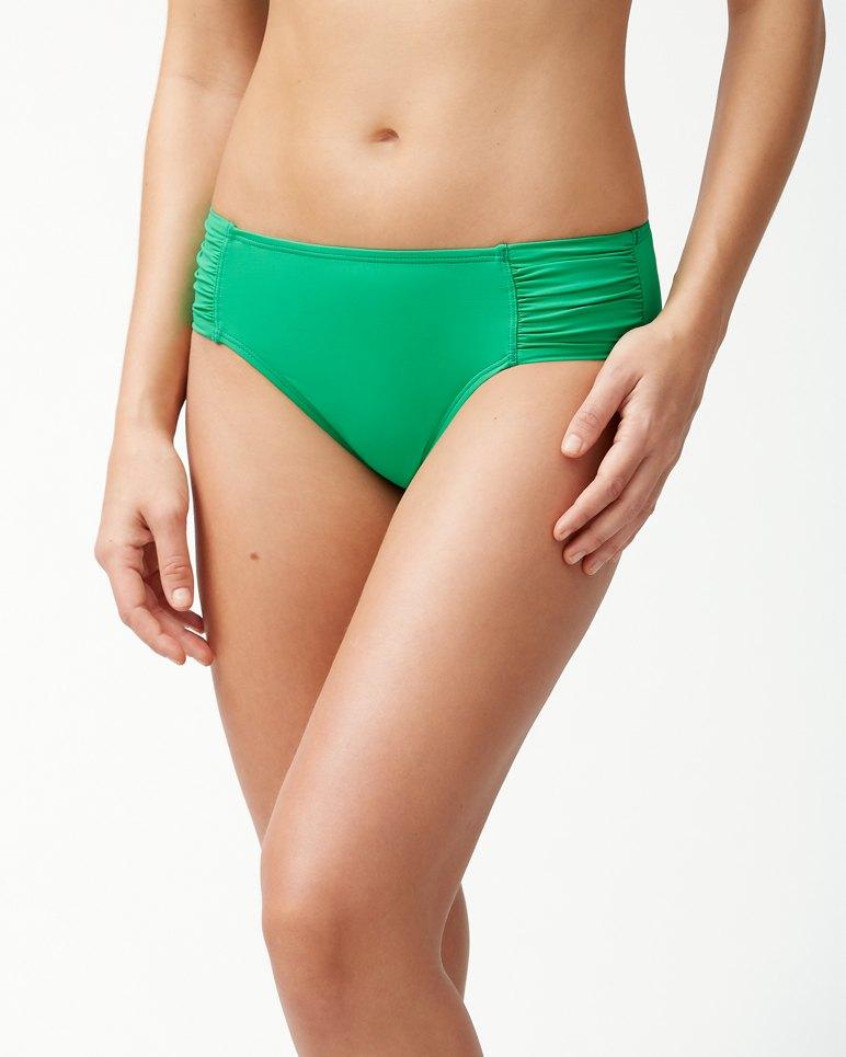 Main Image for Pearl High-Waist Side-Shirred Bikini Bottoms
