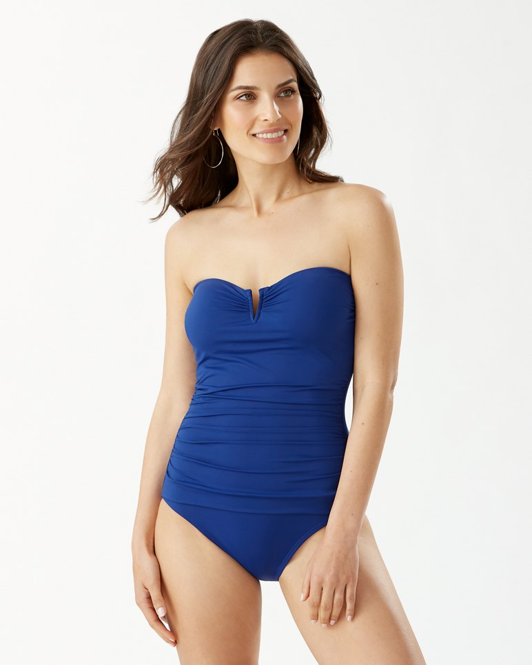 Main Image for Pearl V-Front Bandeau One-Piece Swimsuit