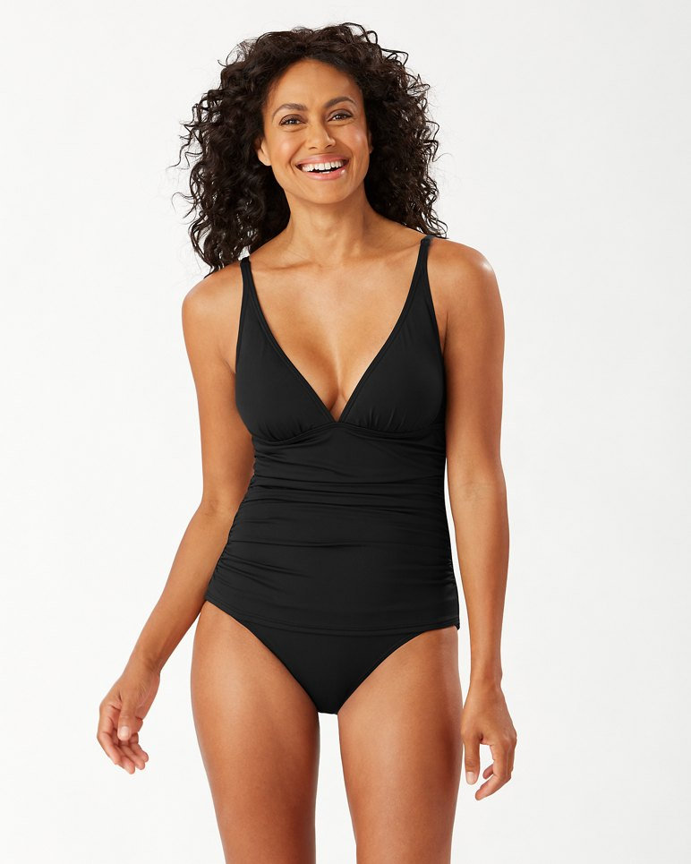 Main Image for Pearl Over-the-Shoulder V-Neck One-Piece Swimsuit