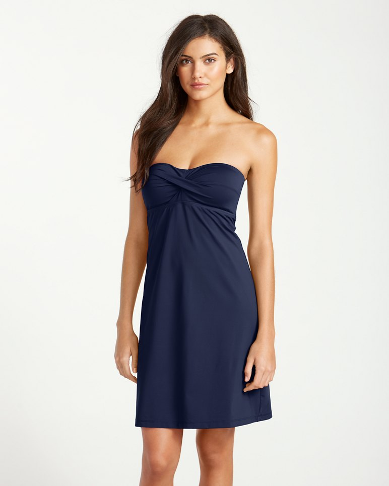 Main Image for Pearl Twist-Front Bandeau Swim Dress