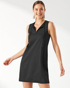 Pearl Split-Neck Swim Dress
