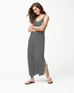 Breton Stripe Racerback Maxi Dress