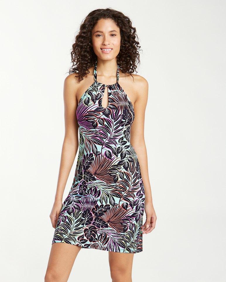 Main Image for Lively Leaves High Halter-Neck Swim Dress