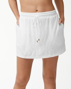 Slub Knit Drawstring Skirt