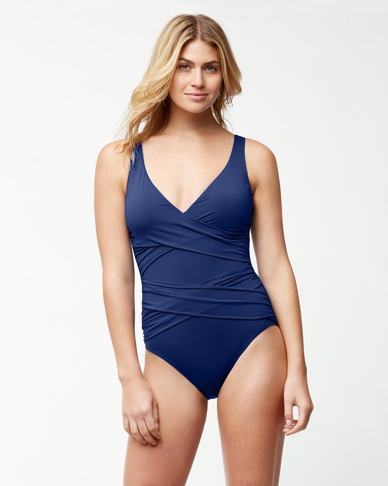Main Image for Pearl Wrap-Front One-Piece Swimsuit