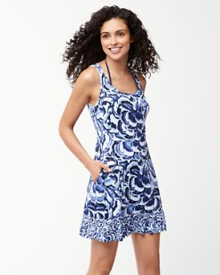 Pansy Petals Swim Dress With Ruffles