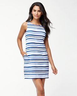 Watercolor Stripe Swim Dress