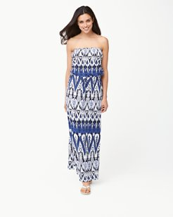 Pineapple Ikat Maxi Dress