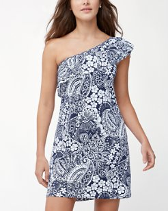 Paisley Paradise Off-The-Shoulder Swim Dress
