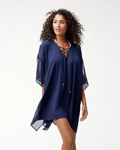 Cotton Modal Lace-Up Tunic