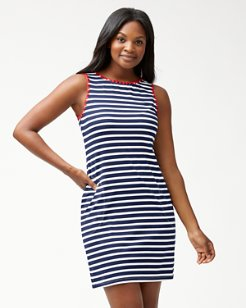 Breton Stripe Swim Dress