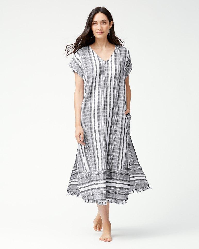 Main Image for Yarn Dye Stripe Tea-Length Dress