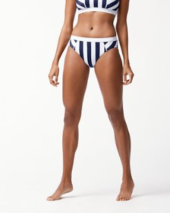IslandActive™ Stripe High-Waist Bikini Bottoms
