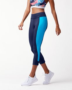 IslandActive® Graphic Tropics Colorblock Cropped Leggings