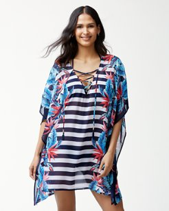 Palms Of Paradise Lace-Up Tunic