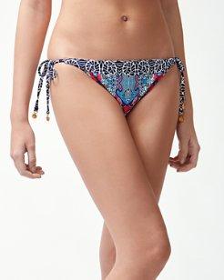 Riviera Tiles Reversible String Bikini Bottoms