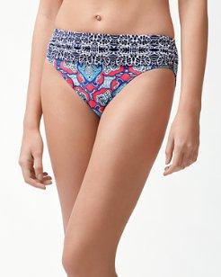 Riviera Tiles High-Waist Bikini Bottoms