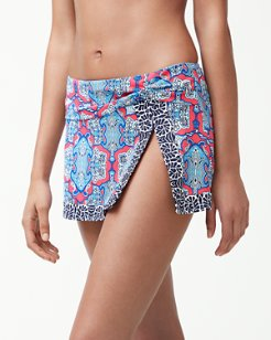 Riviera Tiles Skirted Hipster Bikini Bottoms