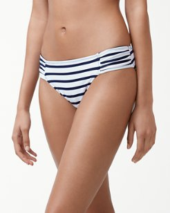 Channel Surfing Reversible Side-Shirred Hipster Bikini Bottoms