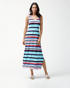 Sporting Stripe Maxi Dress