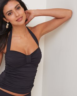 Pearl Halter Tankini with Center Tab