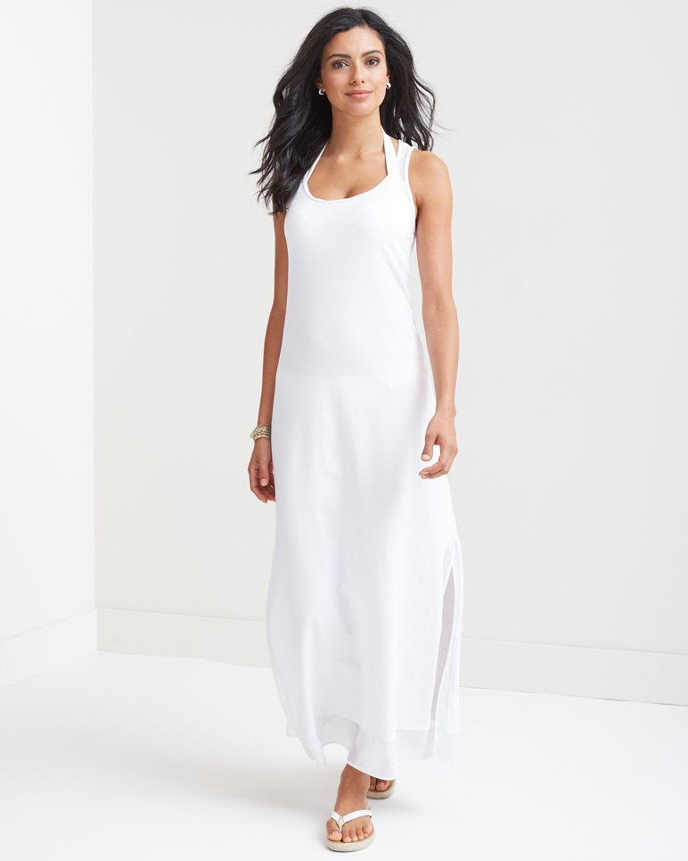 Cotton knit maxi dress loungewear