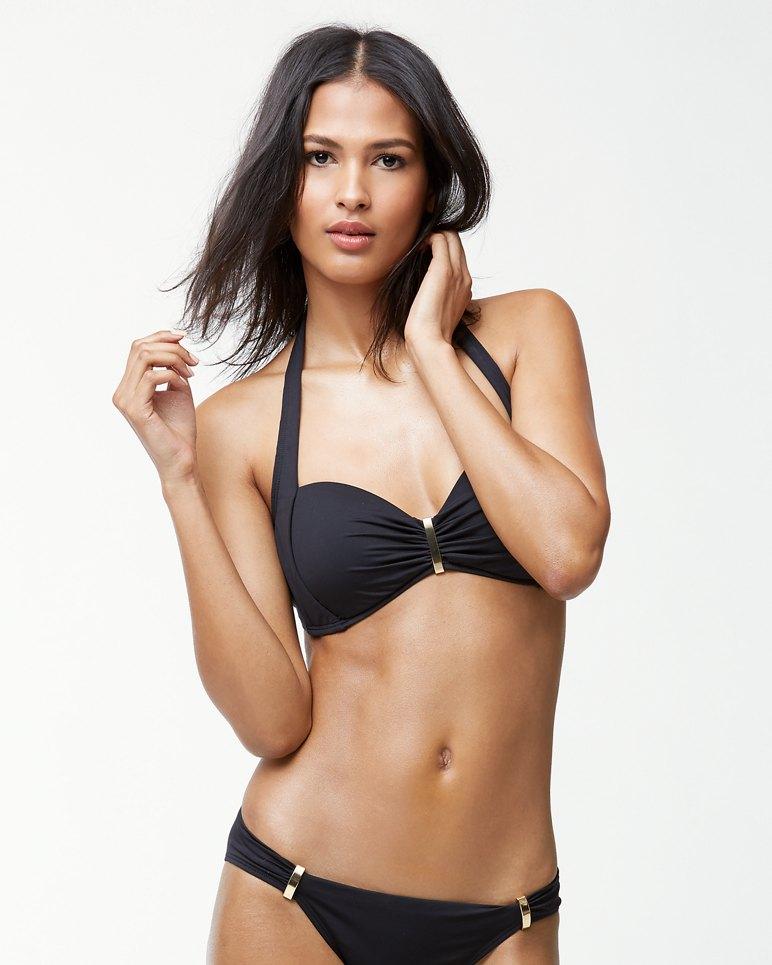 Main Image for Pearl Halter Bikini Top With Hardware