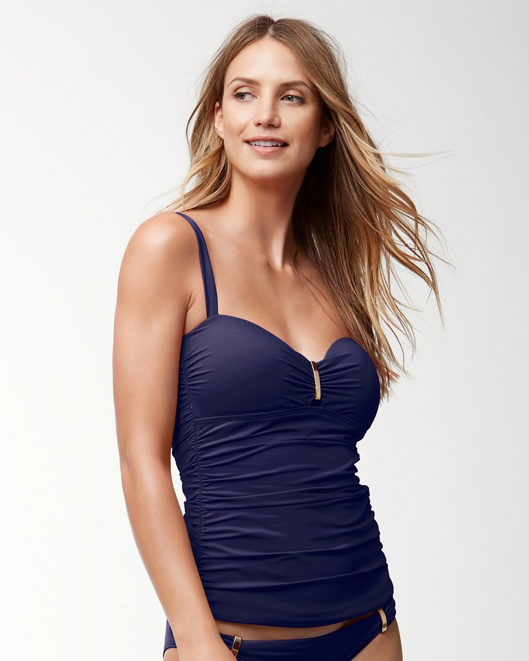 Main Image for Pearl Over-The-Shoulder Shirred Tankini