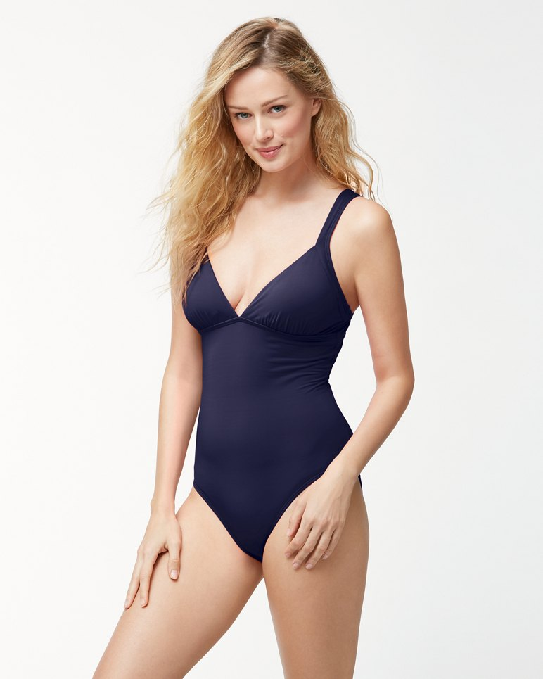 Main Image for Pearl Over-The-Shoulder Crossback One-Piece Swimsuit