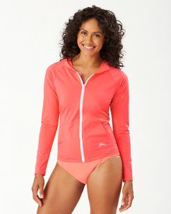 Pearl Long-Sleeve Hooded Rash Guard