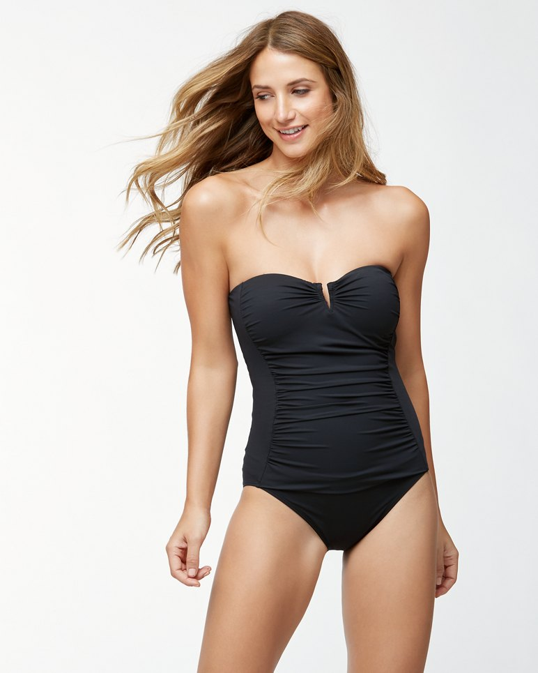 Main Image for IslandSculpt™ V-Front Bandeau One-Piece Swimsuit
