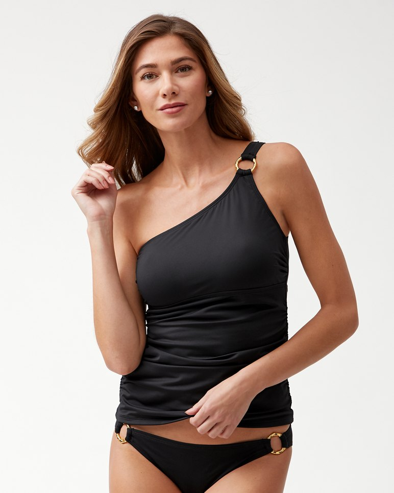 Main Image for Pearl One-Shoulder Tankini With Gold Ring