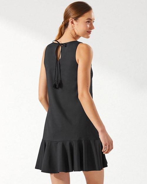 Pearl High-Neck Flounce Dress