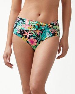 Fleur De Flora High-Waist Bikini Bottoms