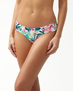 Fleur De Flora Reversible Side-Shirred Hipster Bikini Bottoms