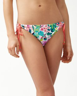 Fleur De Flora Reversible Looped String Bikini Bottoms