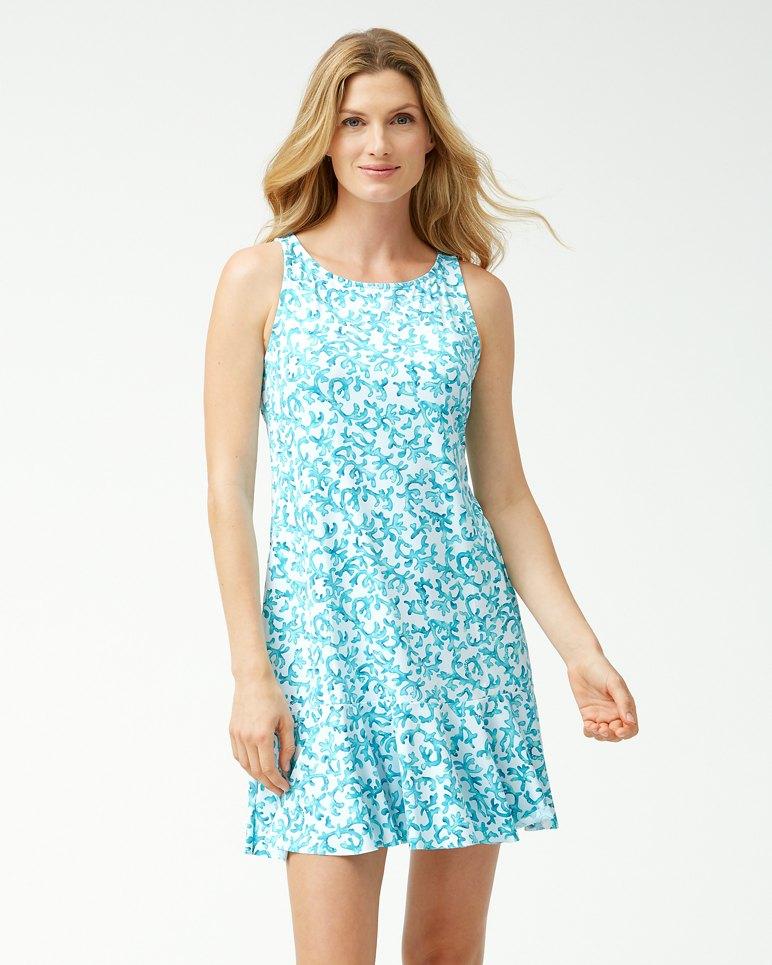 Main Image for Coral Cabana High-Neck Flounce Dress
