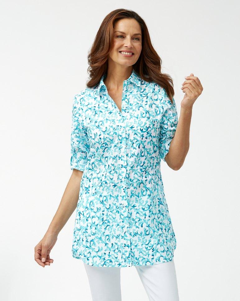 Main Image for Coral Cabana Boyfriend Shirt