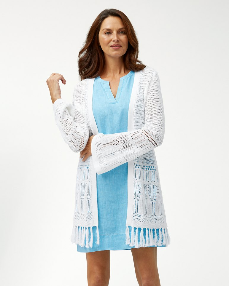 Main Image for Open Front Crochet Cardigan