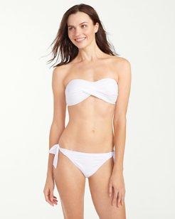 Pearl Twist-Front Bandeau Bikini Top