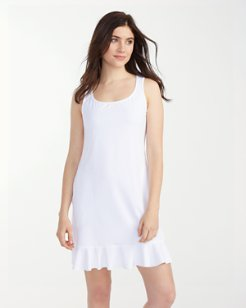 Pearl Scoop-Neck Swim Dress