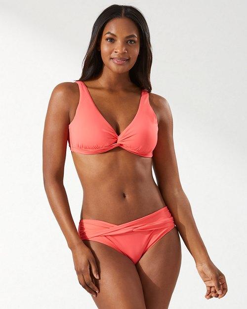 Pearl Underwire Twist-Front Bikini Top