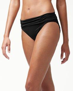 Pearl Shirred Sash Hipster Bikini Bottoms