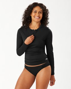 Pearl Half-Zip Rash Guard