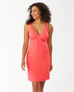 Pearl V-Neck Swim Dress