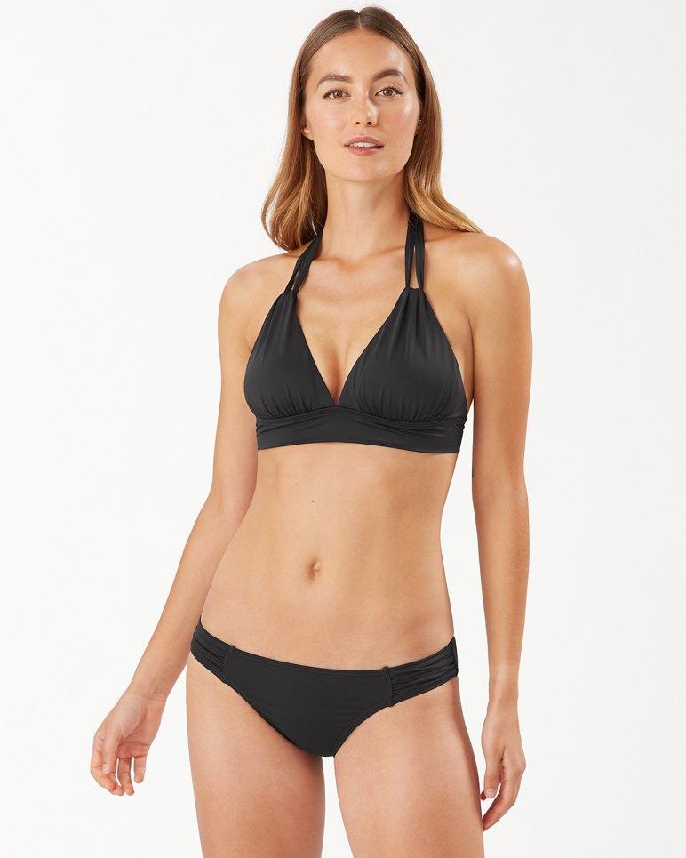Main Image for Pearl Loop-Strap Halter Bikini Top