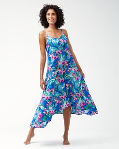 Orchid Groves Tea-Length Dress