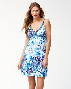 Aqua Petals Swim Dress