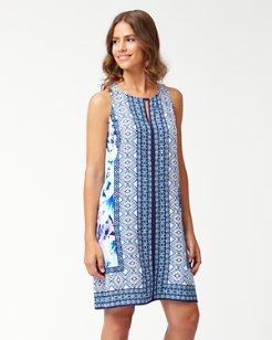 Aqua Petals Short Dress