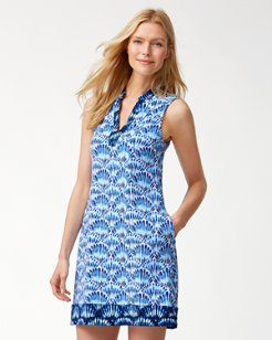 Tide Dye Seashell V-Neck Spa Dress